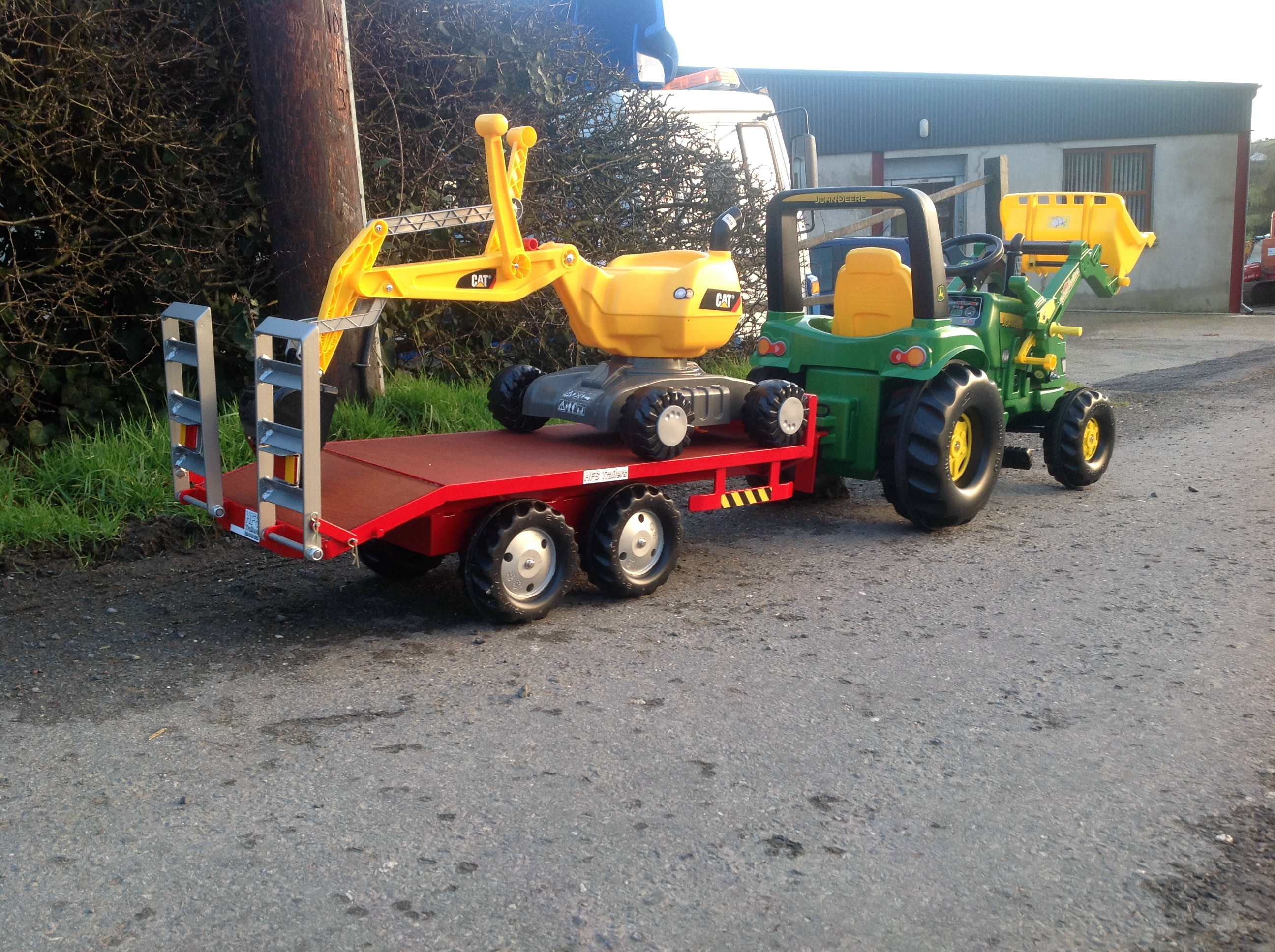 Metal Pedal Tractor Loader : Hearty farm toys hfs metal trailers